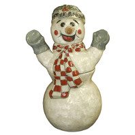 Snowman Shaped Cookie Jar
