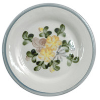 "9"" Rimmed Plate in Country Flower"