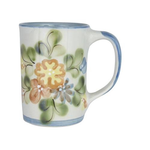 14 oz Mug in Country Flower Blue