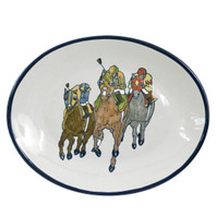 "Comin' at Ya', 12"" Oval Platter"