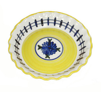 Pinched Rim Pie Plate in Brooke