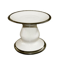 Large Cake Stand with Black Bands