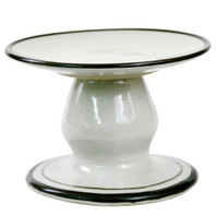 Small Cake Stand with Black Bands