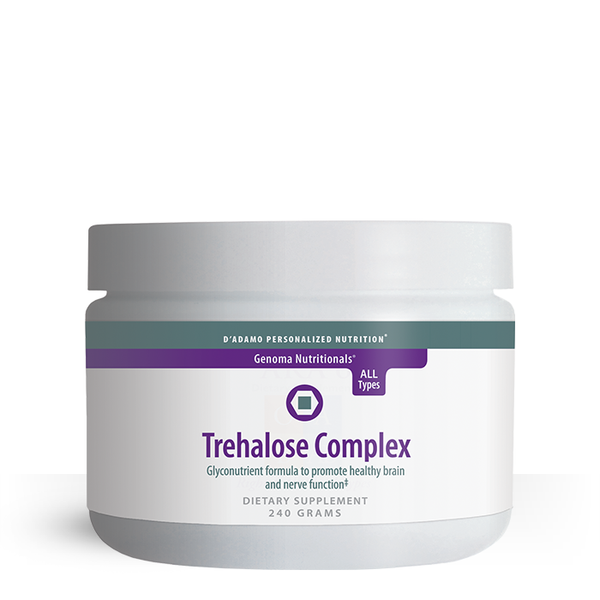 Trehalose Complex acts on multiple levels and may protect nerves from the destructive forces of aging and environmental toxicity, support optimal nerve function as well as activity of the brain and nervous system.