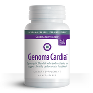 Cardiovascular Support Formula Blends Ancient Wisdom and Modern Science Designed by Dr. Peter J. D'Adamo, Genoma Cardia is a unique cardiovascular support formula that features a synergistic blend of time-honored botanicals, amino acids and nutriceuticals.