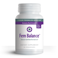 Women of all blood types and GenoTypes can use Fem Balance with confidence.