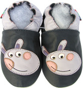 shoeszoo donkey dark blue 0-6m S soft sole leather baby shoes