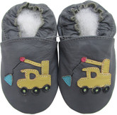 shoeszoo crane dark grey 0-6m S soft sole leather baby shoes