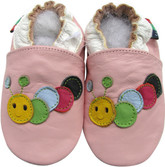 shoeszoo caterpillar pink 0-6m S soft sole leather baby shoes