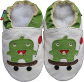 shoeszoo skateboard white 0-6m S soft sole leather baby shoes