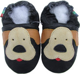 shoeszoo puppy black 0-6m S new soft sole leather baby shoes