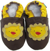 shoeszoo lion dark brown 0-6m S new soft sole leather baby shoes