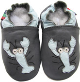 shoeszoo lobster dark grey 0-6m S soft sole leather baby infant shoes