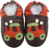 shoeszoo golf car brown 6-12m S soft sole leather baby shoes
