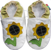 shoeszoo sunflower white 0-6m S new soft sole leather baby shoes