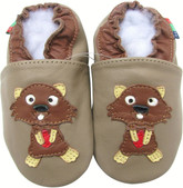 shoeszoo squirrel dark grey 0-6m S new soft sole leather baby shoes