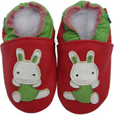 shoeszoo rabbit red 0-6m S new soft sole leather baby shoes