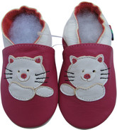 shoeszoo cat fuchsia 0-6m S new soft sole leather baby shoes