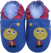 shoeszoo ant blue 0-6m S new soft sole leather baby shoes