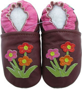 carozoo wildflower purple 18-24m soft sole leather baby shoes