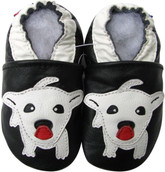 carozoo white puppy black 0-6m new soft sole leather baby shoes