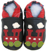 carozoo train black 0-6m C1 new soft sole leather baby shoes