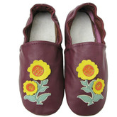 carozoo sunflower purple  US size 7 (EU 37.5) soft sole leather adult shoes