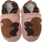 carozoo squirrel pink 18-24m new soft sole leather baby shoes