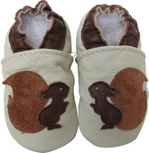 carozoo squirrel cream 0-6m soft sole leather infant baby shoes