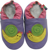 shoeszoo snail purple 0-6m S soft sole leather baby shoes
