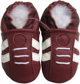 carozoo sports dark red 12-18m new soft sole leather baby shoes