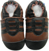 carozoo sports black brown 12-18m soft sole leather baby shoes