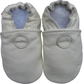 carozoo solid cream 0-6m soft sole leather baby shoes