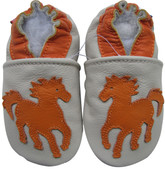 carozoo horse cream 0-6m soft sole leather baby shoes