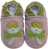 carozoo soft sole baby shoes dragonfly light purple 18-24m C1