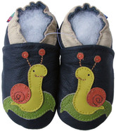 carozoo snail dark blue 0-6m new soft sole leather baby shoes