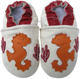 carozoo seahorse cream 0-6m soft sole leather baby shoes