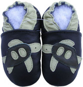 carozoo sea turtle black 12-18m new soft leather baby shoes
