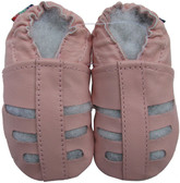 carozoo sandals pink 18-24m soft sole leather baby shoes