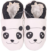 shoeszoo panda white 0-6m S new soft sole leather baby shoes
