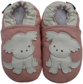 carozoo puppy pink 0-6m soft sole leather infant baby shoes
