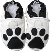 carozoo paw white 0-6m new soft sole leather baby shoes