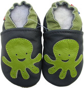 carozoo octopus navy blue 18-24m soft sole leather baby shoes