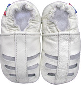 carozoo sandals white 0-6m new soft sole leather baby shoes