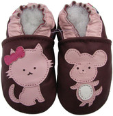 carozoo mouse cat  purple 0-6m soft sole leather baby shoes