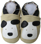 carozoo little puppy cream 0-6m soft sole leather baby shoes