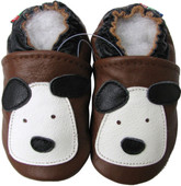 carozoo little puppy brown 0-6m new soft sole leather baby shoes