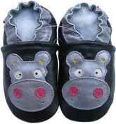 carozoo hippo dark green 18-24m soft sole leather baby shoes