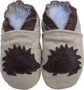 carozoo hedgehog cream 0-6m  soft  sole leather baby shoes