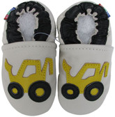 carozoo forklift cream 0-6m C1 soft sole leather infant baby shoes